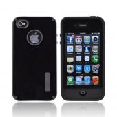 AT&T/ Verizon Apple iPhone 4, iPhone 4S Hybrid Hard Case w/ Silicone Lining - Black Truffle