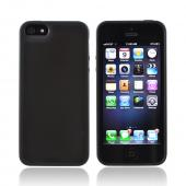 Apple iPhone 5/5S Hard Back w/ Gummy Silicone Border - Black