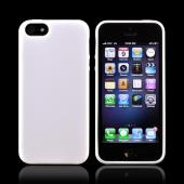 Apple iPhone 5/5S Hard Back w/ Gummy Silicone Border - White