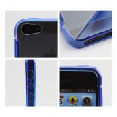 Apple iPhone 5/5S Hard Back w/ Crystal Silicone Lining & Kickstand - Blue/ Frost White