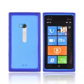 Nokia Lumia 900 Hard Back w/ Crystal Silicone Border - Blue/ Clear