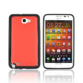 Samsung Galaxy Note Hard Case w/ Gummy Silicone Border - Red/ Black