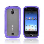 Samsung Exhibit T759 Hard Back w/ Gummy Silicone Lining - Purple/ Clear