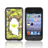 Original Jared Nickerson Apple iPod Touch 4 Hard Back w/ Gummy Silicone Border Case - Mother Nature 2
