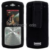 Motorola L7C Leather Molded Hard Case - Black
