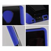Black/ Blue Hard Case Over Silicone w/ Kickstand for Google Nexus 7