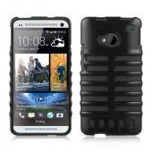 Black Skeleton Hard Cover on Black Silicone for HTC One