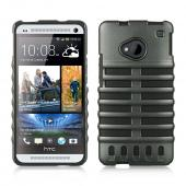 Gray Skeleton Hard Cover on Black Silicone for HTC One