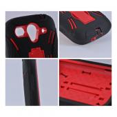 T-Mobile Huawei myTouch 2 Silicone Over Hard Case w/ Stand - Black/ Red