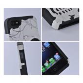 White/ Black/ Silver Skull Hard Case Over Silicone for Apple iPhone 5/5S