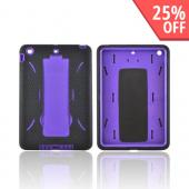 Apple iPad Mini Silicone Over Hard Case w/ Vertical Stand - Black/ Purple