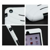Apple iPad Mini Silicone Over Hard Case w/ Horizontal Stand - White/ Black