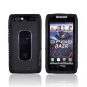 Motorola Droid RAZR Silicone Over Hard Case - Black