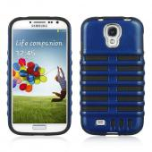 Blue Skeleton Hard Cover on Black Silicone for Samsung Galaxy S4