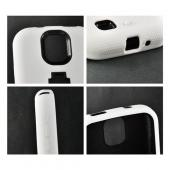 White Silicone Over Black Hard Case w/ Kickstand for Samsung Galaxy S4