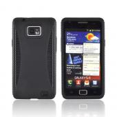 AT&T Samsung Galaxy S2 Silicone Over Hard Case - Black