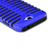 Blue/ Black Hard Cover on Silicone for Samsung Galaxy Note 2
