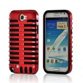 Red/ Black Hard Cover on Silicone for Samsung Galaxy Note 2
