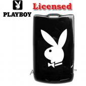 Licensed PlayBoy Motorola RAZR V3 Hard Case - White Bunny on Black