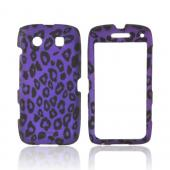 Blackberry Torch 9850 Rubberized Hard Case - Purple/ Black Leopard