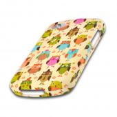 Retro Owls on Cream Rubberized Hard Case for Blackberry Q10