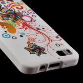 Autumn Floral Burst on White Rubberized Hard Case for Blackberry Z10