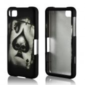 Ace Skull on Gray Rubberized Hard Case for BlackBerry Z10