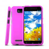 Rose Pink Rubberized Hard Plastic Case for Blu Studio 5.5