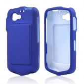 Blue Rubberized Hard Case for Casio G'zOne Commando 4G LTE C811