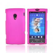 Sony Ericsson Xperia X10 Rubberized Hard Case - Rose Pink