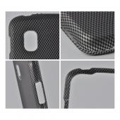 Black/ Gray Carbon Fiber Design Rubberized Hard Case for LG Google Nexus 4