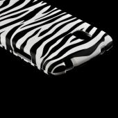 White/ Black Zebra Rubberized Hard Case for LG Google Nexus 4