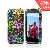Multi-Colored Artsy Leopard Rubberized Hard Case for HTC First