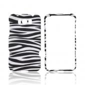 HTC Titan Rubberized Hard Case - Black/ White Zebra