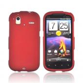 HTC Amaze 4G Rubberized Hard Case - Red