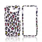 HTC Arrive Rubberized Hard Case - Colorful Leopard on White