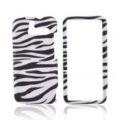 HTC Arrive Rubberized Hard Case - Black/WhiteZebra