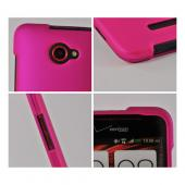 Hot Pink Rubberized Hard Case for HTC Droid DNA