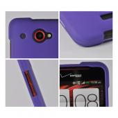 Purple Rubberized Hard Case for HTC Droid DNA