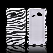 HTC Droid Incredible 4G LTE Rubberized Hard Case - Black/ White Zebra