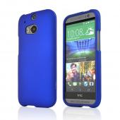 Blue Rubberized Hard Case for HTC One 2