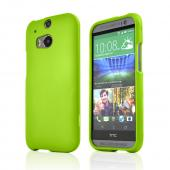 Neon Green Rubberized Hard Case for HTC One 2