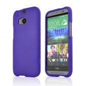 Purple Rubberized Hard Case for HTC One 2