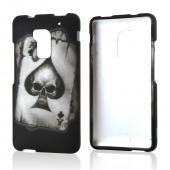 Ace Spade Skull on Black Rubberized Hard Case for HTC One Max