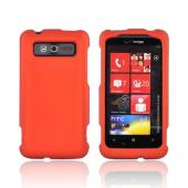 HTC Trophy Rubberized Hard Case - Orange