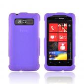 HTC Trophy Rubberized Hard Case - Purple