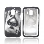 AT&T Fusion 2 U8665 Rubberized Hard Case - Ace Skull on Black