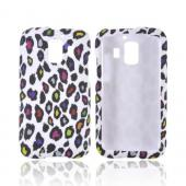AT&T Fusion 2 U8665 Rubberized Hard Case - Rainbow Leopard on White