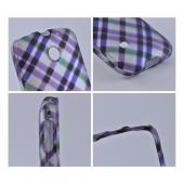 Huawei Ascend 2/ Prism/ Summit M865 Rubberized Hard Case - Purple Plaid on Gray