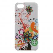 Autumn Floral Burst on White Rubberized Hard Case for Apple iPhone 5C